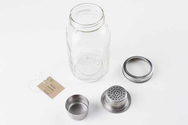 The Mason Shaker is a unique four-piece cocktail shaker that hearkens to American eras past.