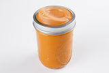 cuppow canning jar drinking lid wide mouth orange