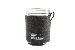 "Cuppow ""Pfelt"" Mason Jar Coozie Made in the USA from 100% Recycled Soda Bottles"