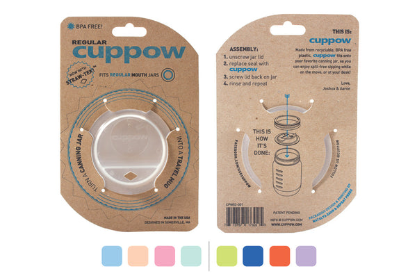 cuppow mason jar drinking lid regular mouth clear sippy cup