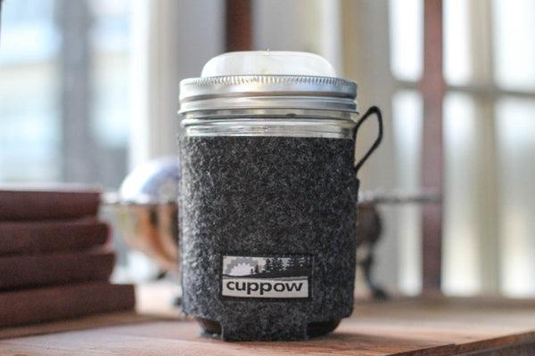 Cuppow Mason Jar Drinking Lid and Coozie Made in the USA from Recycled Plastic