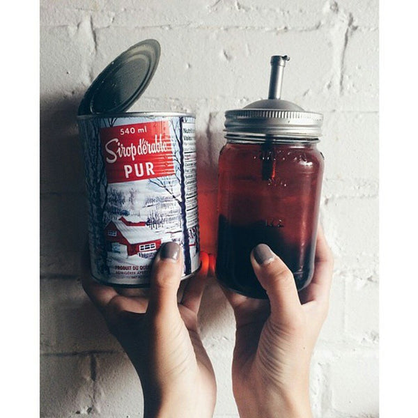 The Mason Tap is a pour spout for any regular mouth mason jar. It's perfect for storing and pouring maple syrup!