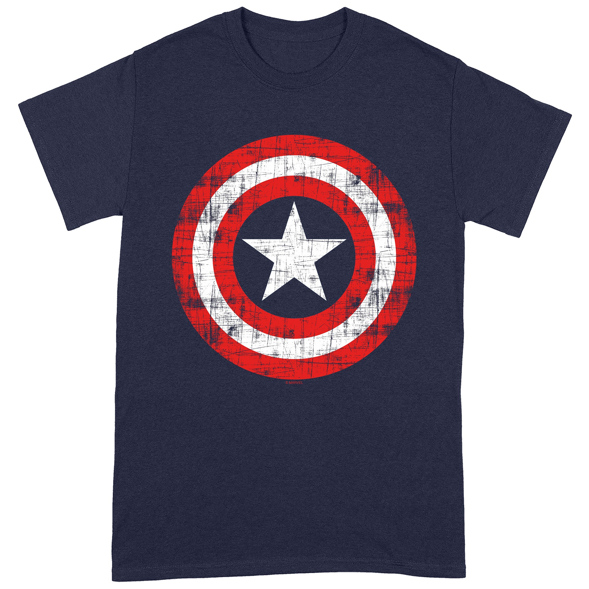 Captain America Scratched Shield T-Shirt