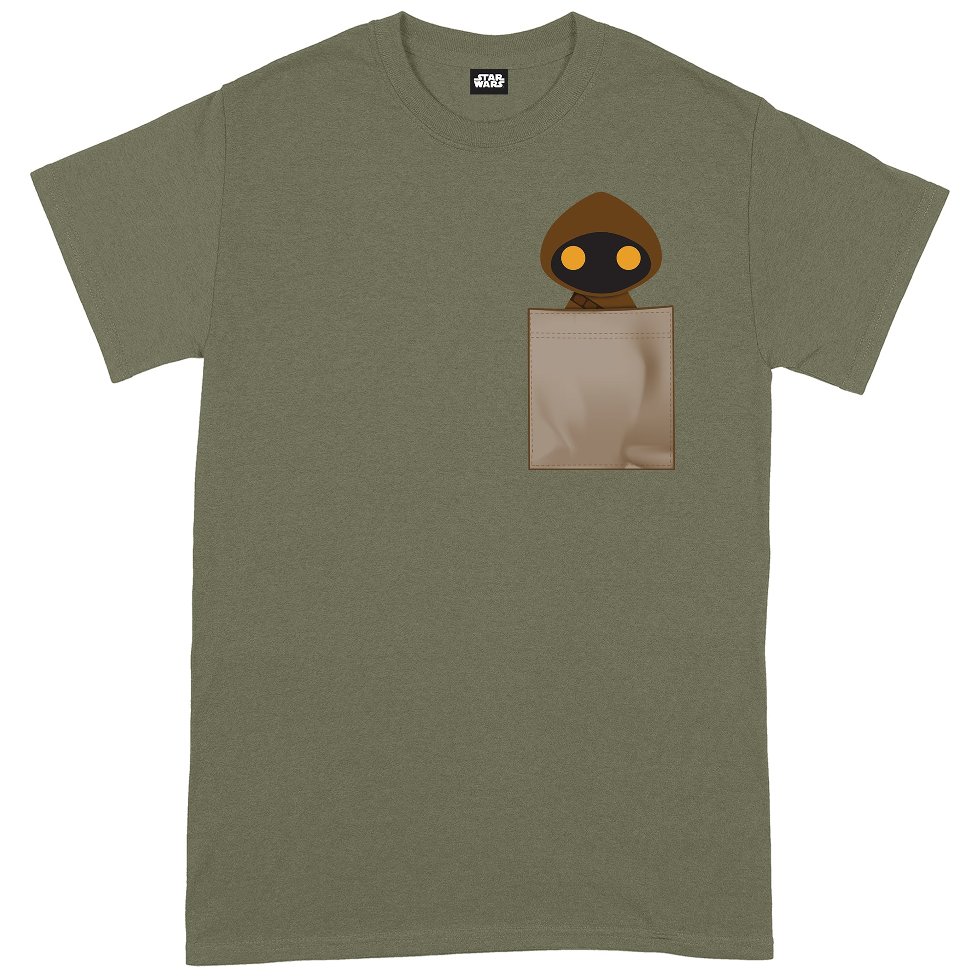 Star Wars Jawa Pocket Print Military Green T-Shirt