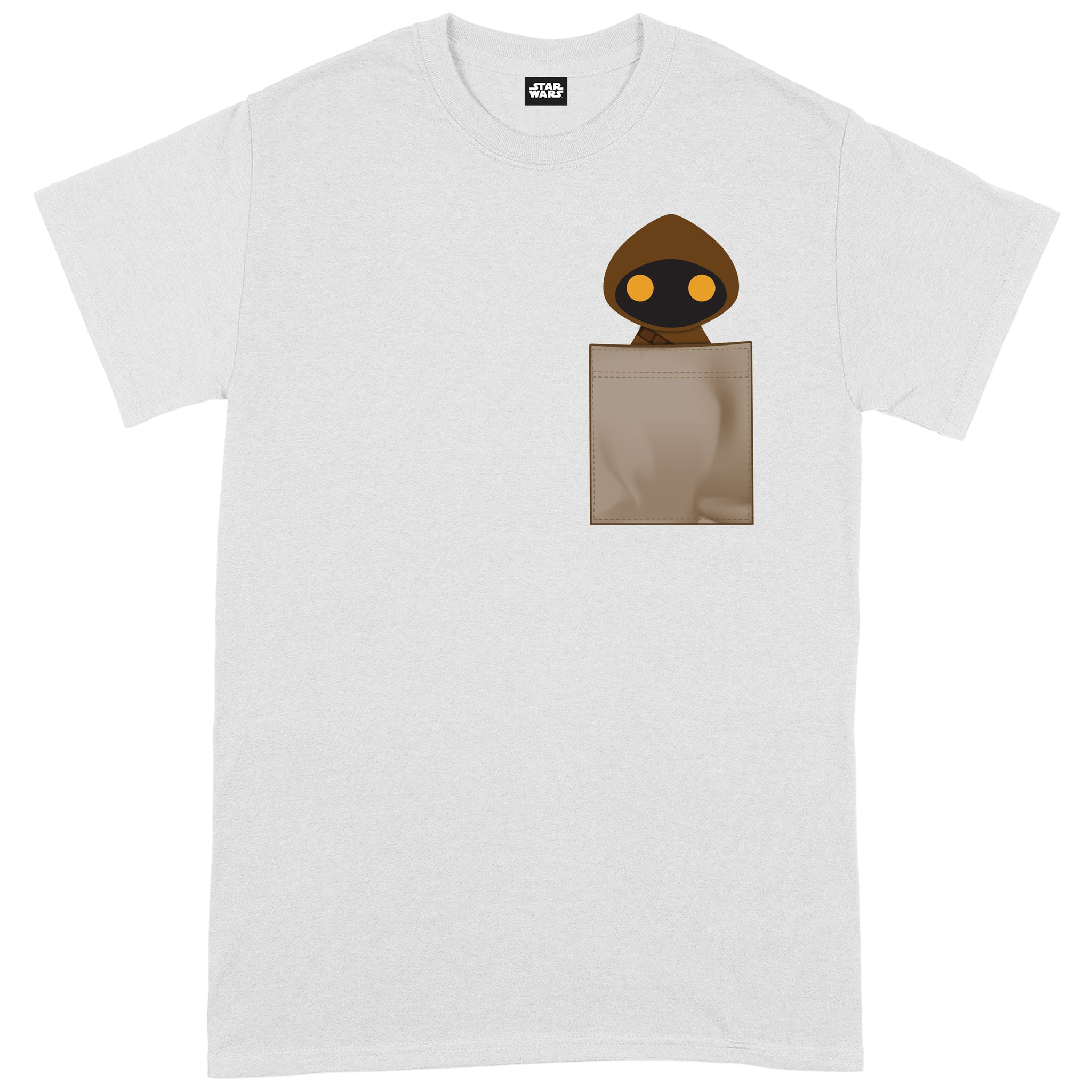 Star Wars Jawa Pocket Print WhiteT-Shirt