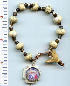 Francis Carved Bird Chaplet/Bracelet - PatriArts Gallery