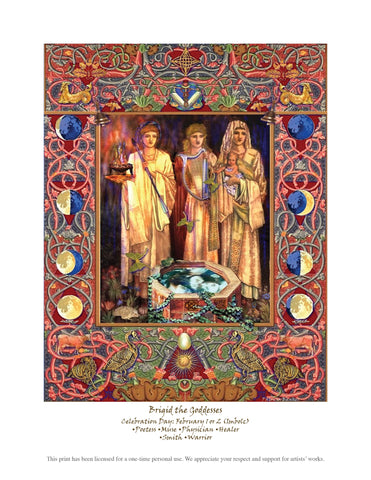 Brigid the Goddesses Downloadable Print - PatriArts Gallery