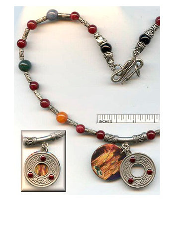 Brigid Goddesses Circle Necklace - PatriArts Gallery