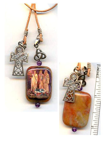 Brigid Goddesses Lariat Reversible Necklace - PatriArts Gallery