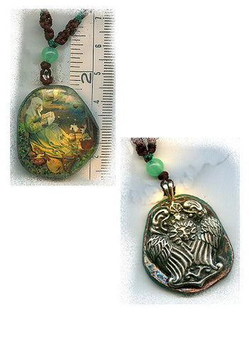 Brigid of Ireland Angel Reversible Pendant - PatriArts Gallery