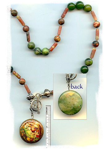 Brigid of Ireland Reversible Necklace - PatriArts Gallery