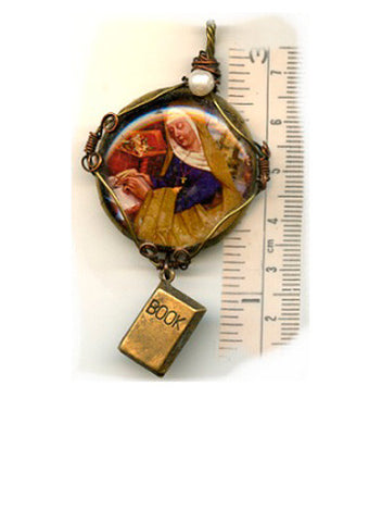 Catherine Book Pendant - PatriArts Gallery