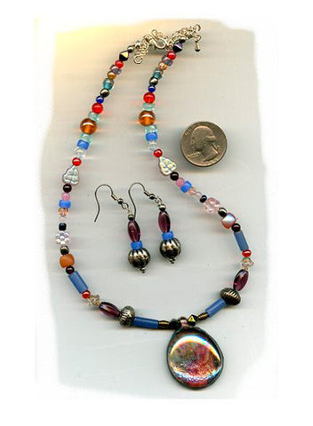 Cecilia Iridescent Necklace - PatriArts Gallery