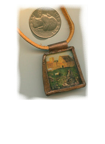 Columba Recycled Bottle Glass Pendant - PatriArts Gallery
