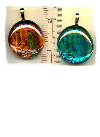 Cosmas & Damian Simple Glass Pendants - PatriArts Gallery
