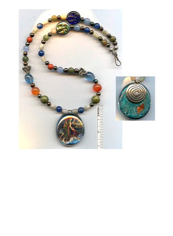 Dymphna Gemstone Necklace - PatriArts Gallery