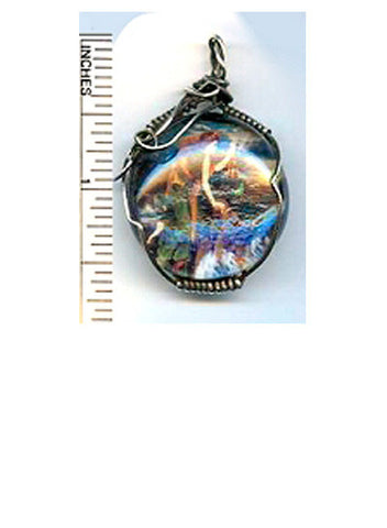 Dymphna Glass Pendant - PatriArts Gallery