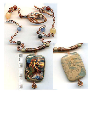 Dymphna Reversible Necklace - PatriArts Gallery