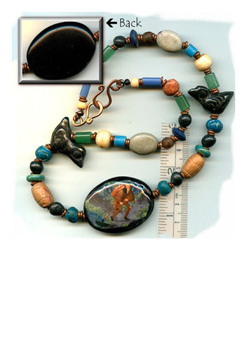 Expeditus Black Agate Choker with Crows - PatriArts Gallery