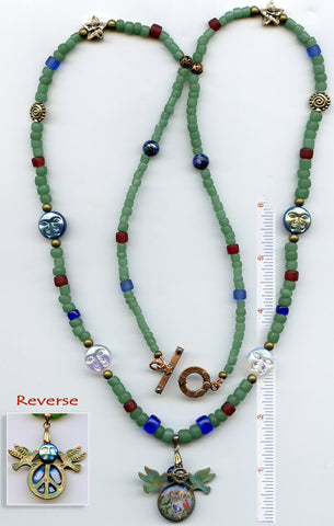 Francis of Assisi Stellar Glass Necklace - PatriArts Gallery