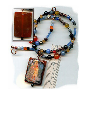Genesius Red Agate Necklace - PatriArts Gallery