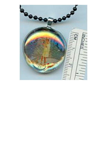 Genesius Simple Iridescent Pendant - PatriArts Gallery