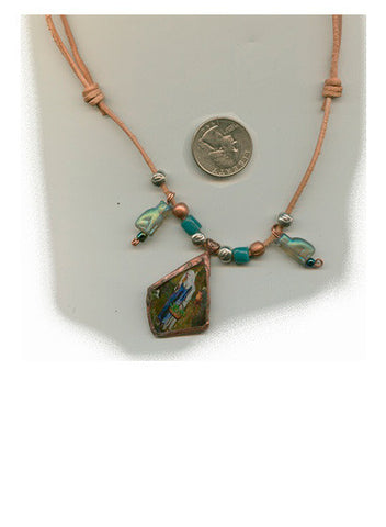 Gertrude Bottle Glass Necklace - PatriArts Gallery