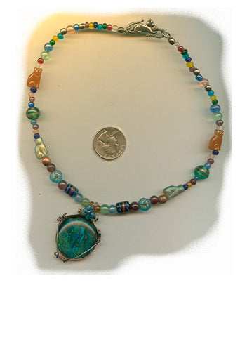 Gertrude Cat Clasp Necklace - PatriArts Gallery