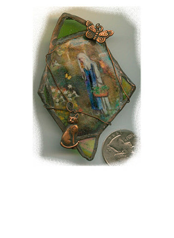 Gertrude Green Glass Brooch/Pendant - PatriArts Gallery
