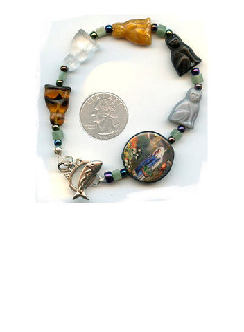 Gertrude Striped Agate Bracelet/Chaplet - PatriArts Gallery