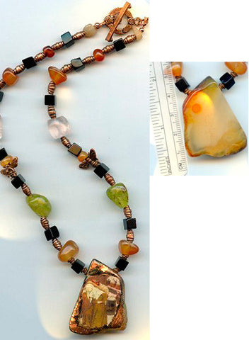 Gobnait Honey Quartz Necklace - PatriArts Gallery
