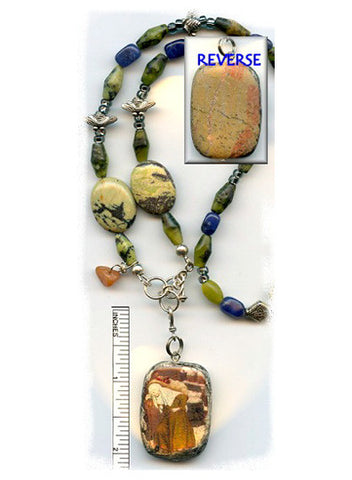 Gobnait Jasper Touch Stone Necklace - PatriArts Gallery