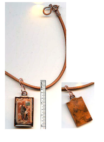 Gregory Copper Rectangle Pendant - PatriArts Gallery