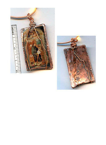 Gregory Recycled Glass/Copper Pendant - PatriArts Gallery