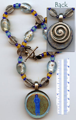 Hildegard Reversible Necklace #01 - PatriArts Gallery