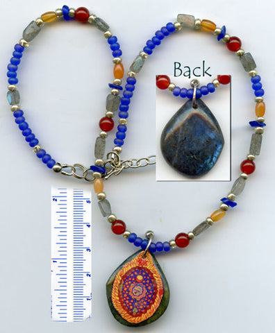 Hildegard Reversible Necklace #05 - PatriArts Gallery
