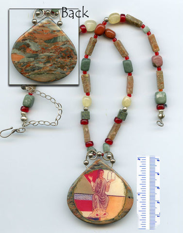 Hildegard Reversible Necklace #09 - PatriArts Gallery