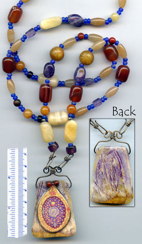 Hildegard Versatile Reversible Necklace #03 - PatriArts Gallery