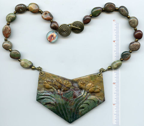 Hildegard von Bingen Evocative Focal Piece/Necklace - PatriArts Gallery