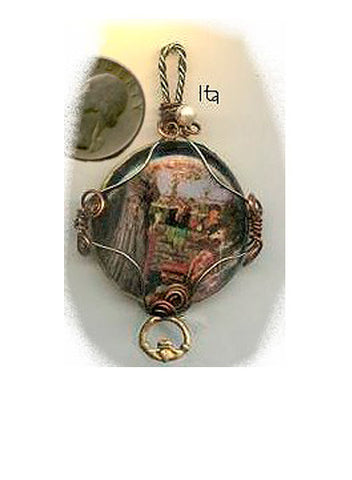 Ita Claddagh Ring Pendant - PatriArts Gallery