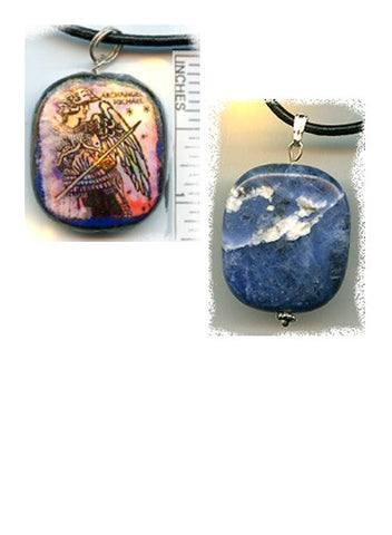 Michael Sodalite Reversible Pendant - PatriArts Gallery