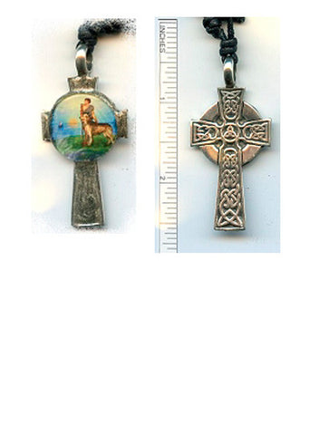 Patrick Celtic Cross Silver-Plated Pendant - PatriArts Gallery