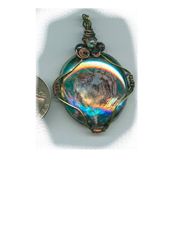 Raphael Wrapped Iridescent Pendant - PatriArts Gallery
