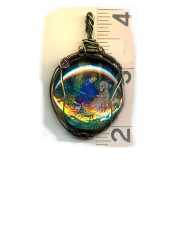 Roch Wrapped Iridescent Pendant - PatriArts Gallery
