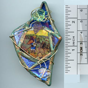 Vincent Bottle Glass Brooch 04 - PatriArts Gallery