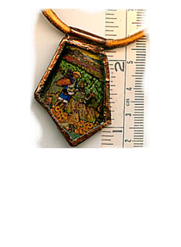 Vincent Bottle Glass Pendant with Leather Cord - PatriArts Gallery