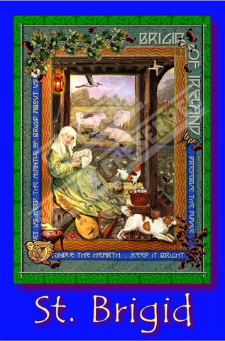 Brigid of Ireland Poster - PatriArts Gallery
