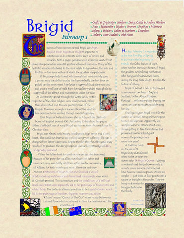 Brigid of Ireland Scroll - PatriArts Gallery