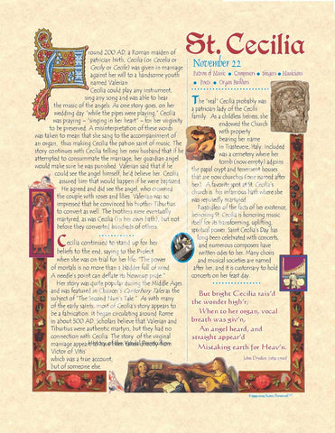 Cecilia Scroll - PatriArts Gallery