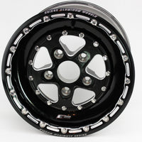 "Keizer ""Full House"" Honda Drag Wheel - Black Barrel"